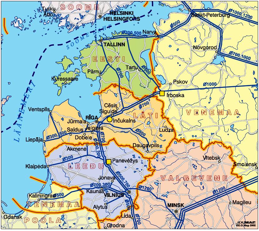 Как видно Литва является